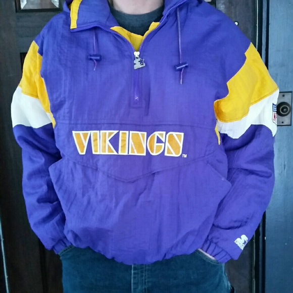 sports shoes 943c3 197b3 Mens Vintage Vikings Starter Jacket XL